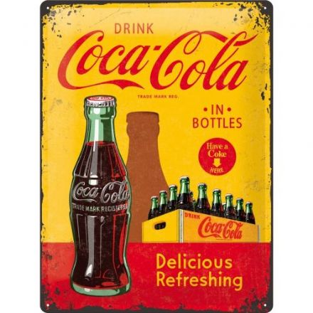 Coca Cola Bottle- 3D  Metal Wall Sign